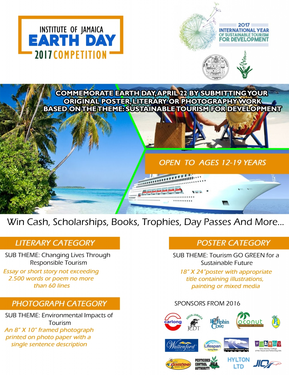 Institute of Jamaica Earth Day 2017 Poster Competition