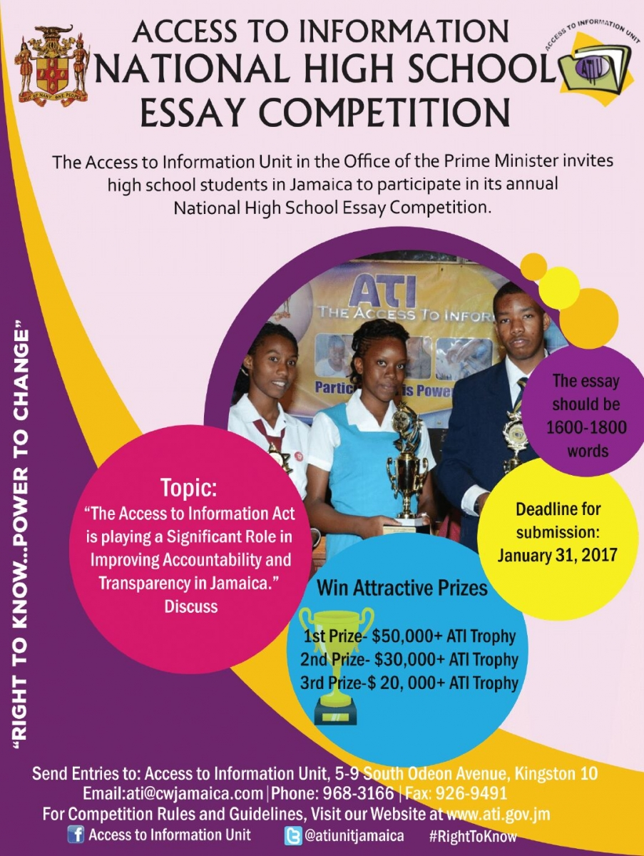 deadline ati essay competition youth information centers ncyd access to information national essay competition