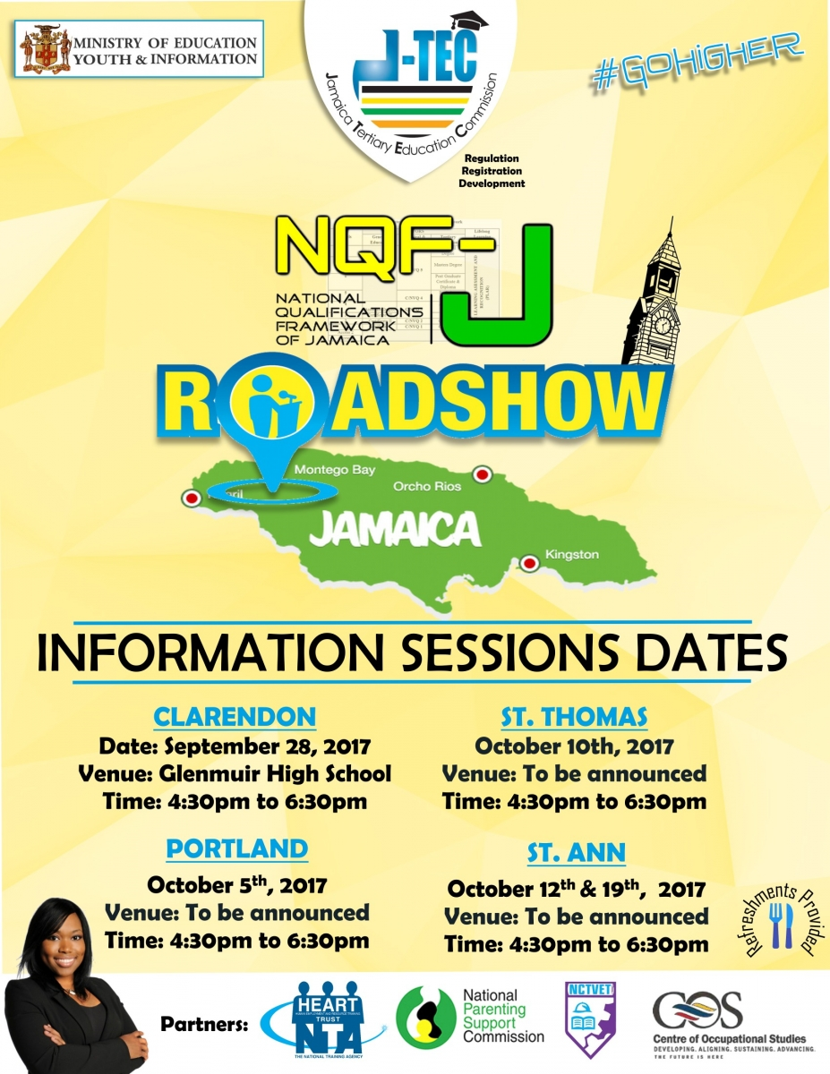 Jamaica Tertiary Education Commission National Qualifications Framework of Jamaica Roadshow JTEC NQFJ