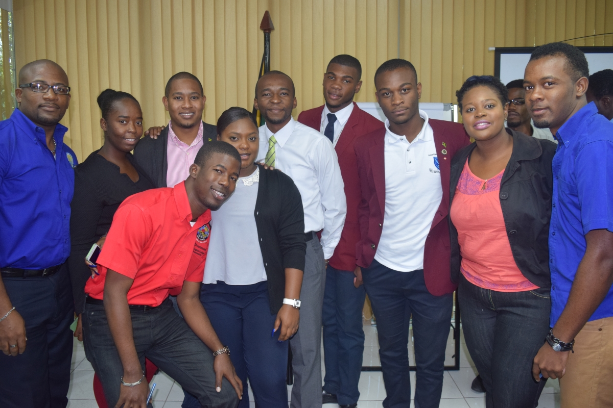 Jamaica Union of Tertiary Students Executive Body 2016 2017 Minister Floyd Green