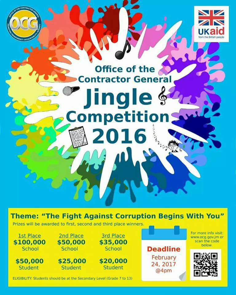 office of the contractor general jingle comeptition 2017
