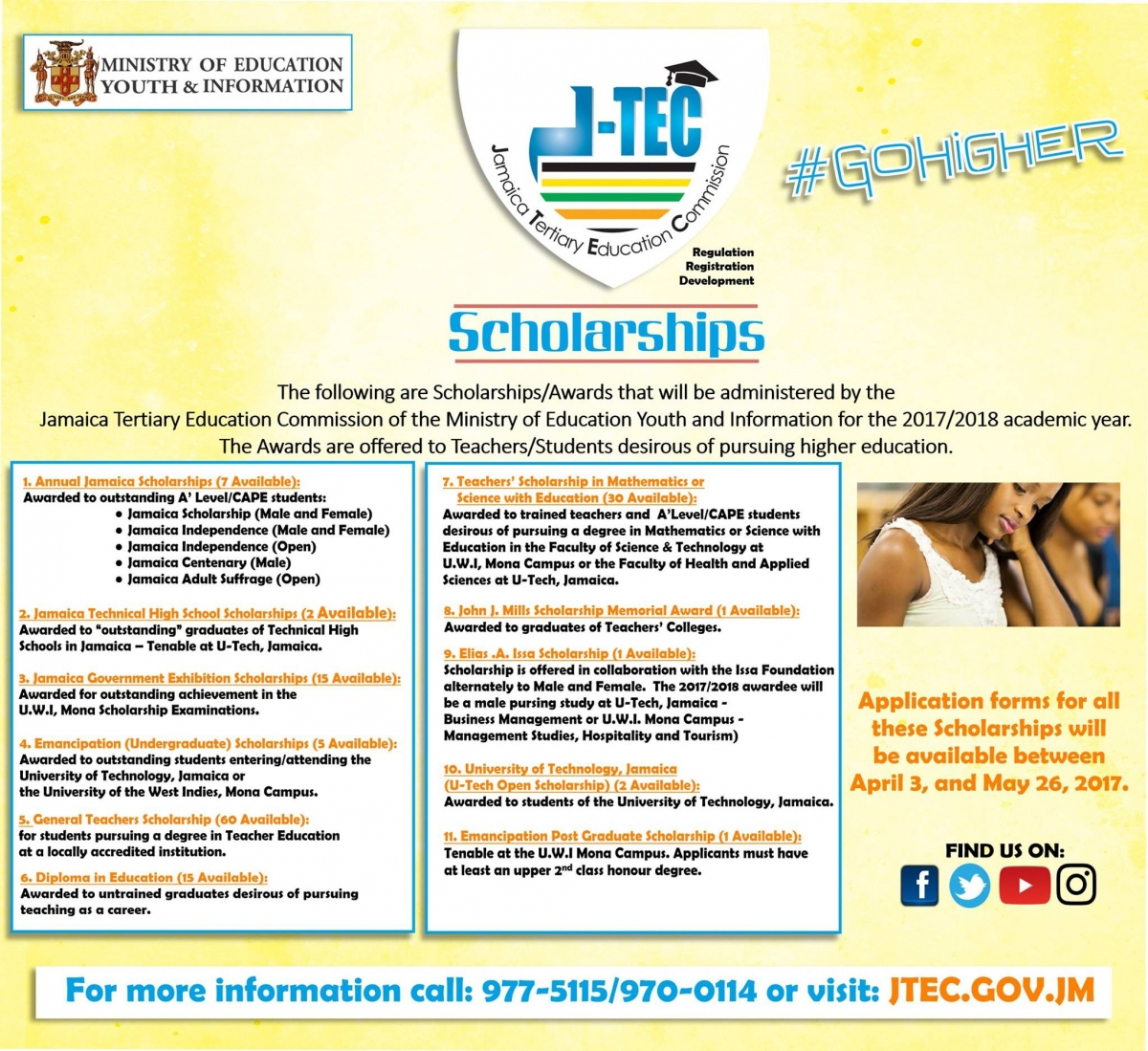 scholarships youth information centers ncyd tertiary education commission scholarships scholarships awards that will be administered by the